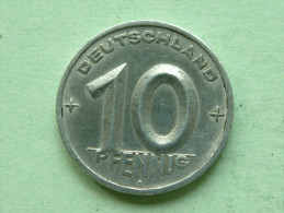1950 A - 10 Pfennig - KM 3 ( Uncleaned - For Grade, Please See Photo ) ! - [ 6] 1949-1990 : RDA - Rep. Dem. Alemana