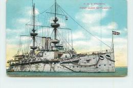 H.M.S. MAJESTIC  - First Class Battleshipi. (bateau Anglais) - Guerre