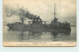 """MARINE MILITAIRE  - Le Contre-torpilleur """"La Foudre"""" En Ordre De Marche En Escadre. - Guerre"""