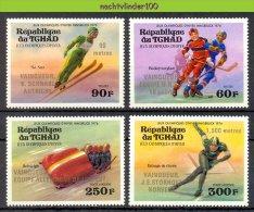 Muo041 SPORT OLYMPISCHE SPELEN SCHAATSEN OLYMPIC GAMES INNSBRUCK SKATING SKIING BOBSLED ICEHOCKEY TCHAD 1976 PF/MNH - Winter 1976: Innsbruck