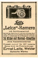 Original-Werbung/Inserat/ Anzeige 1928 - ERNST LEITZ / LEICA KAMERA  - Ca. 100 X 80 Mm - Publicités
