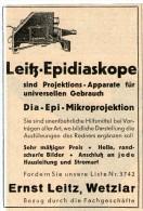 Original-Werbung/Inserat/ Anzeige 1928 - ERNST LEITZ / EPIDIASKOPE  - Ca. 100 X 80 Mm - Pubblicitari
