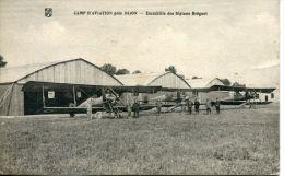 N°37675 -cpa Camp Aviation Près Dijon, Escadrille Des Biàplan Bréguet- - Aerodromes