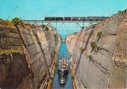 GRECE - Isthme De Corinthe  Isthmus Corinth (bateau Train) -ETAT= Voir Description *PRIX FIXE - Grèce