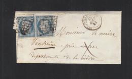 Lettre 1851 Belleville - Poststempel (Briefe)