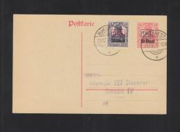 Romania German Occupation Stationery 1917 Bucharest - Cartas De La Primera Guerra Mundial