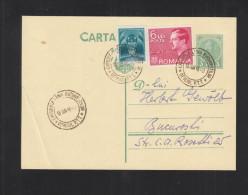 Romania Stationery Uprated Special Cancellation Luna Bucurestilor 1936 - 1918-1948 Ferdinand, Carol II. & Mihai I.