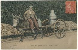Bel Attelage Ane De Laitier Normandie Milkman Cart Close Up Colored 1905 Lait Milk - Donkeys