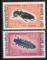 Laos P A N° 54 / 55 X  Coléoptères, Les 2 Valeurs Trace De Charnière Sinon TB - Laos