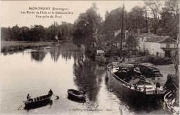 Montpont – Les Bords De L'Isle Et Le Débarcadère … Vue Prise Du Pont (péniche) - Autres Communes