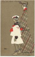 Art Nouveau Maté Mere Et Fille Profil Costume Marin Marine - Illustrateurs & Photographes