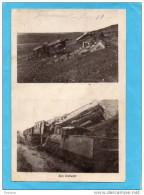 -FRONT D ORIENT-CARTE  PHOTO Guerre 1914-18 -TRAIN  BOMBARDE-au KM 18 Carte Photo De 1916 - Guerra 1914-18