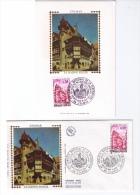2 Documents Philatéliques 47e Congrès National De La Fédération Des Sociétés Philatéliques Françaises Colmar 1974 - Castles