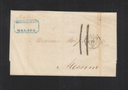 Carta 1867 Malaga - 1850-68 Königreich: Isabella II.