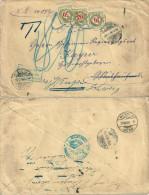 """Taxierter Brief  """"Ministerium Für Elsass-Lothringen""""  Strassburg - Mühlhausen - Wengen         1908 - Taxe"""