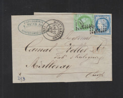 Lettre 1873 Montbeliard - Poststempel (Briefe)