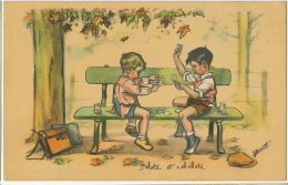 Jeu De Carte Belote Et Rebelote Par Germaine Bouret Ecoliers Sac Ecole - Playing Cards