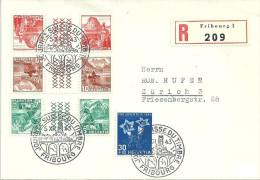 "R-Brief  ""Journée Du Timbre Fribourg""  (Kehrdruck-Frankatur)         1943 - Svizzera"