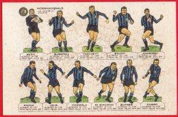 [DC6469] CARTOLINA - CALCIO - FORMAZIONE INTER - Old Postcard - Fútbol