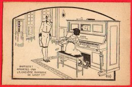 [DC6473] CARTOLINA UMORISTICA FRANCESE - FIRMATA - Old Postcard - Humor
