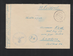 SS Feldpost Ostland Litauen Lithuania Glebokie Eydtkau Wilna - Deutschland