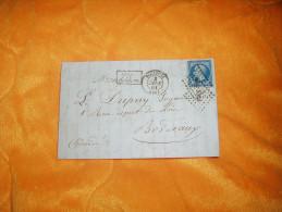 LETTRE ANCIENNE CIRCULEE DE 1861 / TOULOUSE A BORDEAUX / CACHETS DONT APRES LE DEPART +TIMBRE ET OBLITERATION - Marcophilie (Lettres)