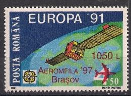 """1997 Rumänien  Romana  Mi.5280    ** MNH """"Aeromfila `97  Brasov"""