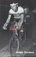 Carte Postale Cycliste Adolphe Verschuren  - Lotto Photo  Déposé - - Ciclismo