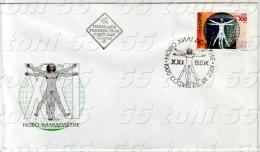 BULGARIA / Bulgarie 2001 New Millennium Leonardo Da Vinci (Masonic Symbol Freemasonry) 1v.- DFC - Freemasonry