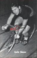 Carte Postale Cycliste Emile Daems  - Lotto Photo  Déposé - Wielrennen - Piste - Ciclismo