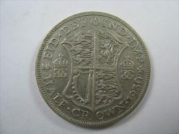UK GREAT BRITAIN  HALF CROWN 1930 SILVER - K. 1/2 Crown