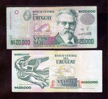 ® URUGUAY: 20000 Nuevos Pesos (1991) Fine - Uruguay