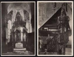 2 X CPA Kesmark Inneres Der Evang Holzkirche & Schlosskapelle - Slovaquie
