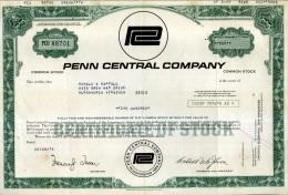 CERTIFICATO AZIONARIO PENN CENTRAL COMPANY 1978  500 SHARES STOCK - Ferrovie & Tranvie