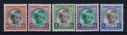 Luxembourg:  Mi.nr. 240 - 244, Yv 234-238 MH/*, 1931 Caritas - Luxemburg