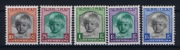 Luxembourg:  Mi.nr. 240 - 244, Yv 234-238 MH/*, 1931 Caritas