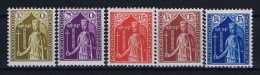 Luxembourg:  Mi.nr. 245 - 249, Yv 239-243 MH/*, 1932
