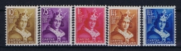 Luxembourg:  Mi.nr. 252 - 256, Yv 244-248 MH/*, 1933