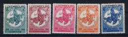 Luxembourg:  Mi.nr. 260 - 264, Yv 253-257 MH/*, 1934