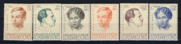 Luxembourg:  Mi.nr. 333 - 338, Yv 325 - 329  1939  MH/*