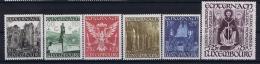 Luxembourg:  Mi.nr. 309 - 314, Yv 300 - 305  1938 MNH/**