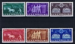 Luxembourg:  Mi.nr. 478 - 483  1951 MNH/**