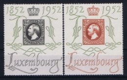 Luxembourg:  Mi.nr.  488- 489  1952 MH/*