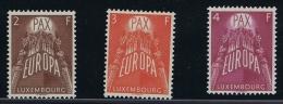 Luxembourg:  Mi.nr. 572-574, 1957 MNH/**