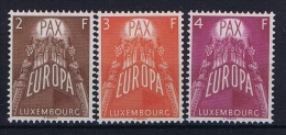 Luxembourg:  Mi.nr. 572-574, 1957 MNH/** - Unused Stamps