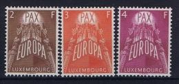 Luxembourg:  Mi.nr. 572-574, 1957 MNH/** - Ongebruikt