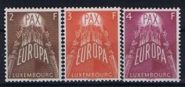Luxembourg:  Mi.nr. 572-574, 1957 MH/* - Luxemburg
