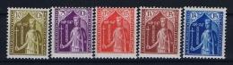 Luxembourg:  Mi.nr. 245 - 249, Yv 239-243 MH/*, 1932 - Ongebruikt