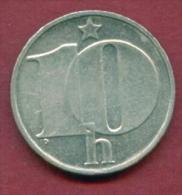 F2569 / - 10 Haleru - 1977  - Czechoslovakia Tchécoslovaquie Tschechoslowakei - Coins Munzen Monnaies Monete - Czechoslovakia