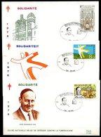 BE   FDC  1918 - 1920   ---   Solidarité  --  Obl. Ben-Ahin - FDC